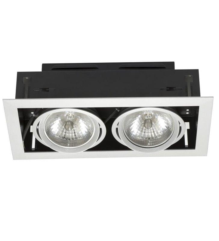 Podwójna lampa sufitowa do wbudowania Downlight- DOSTĘPNA OD RĘKI