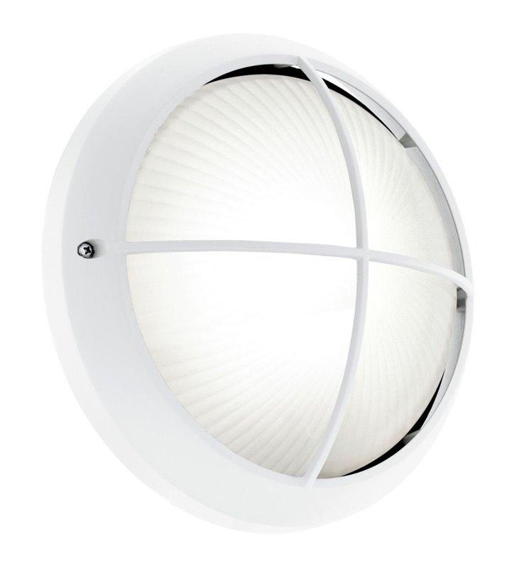 Biała okrągła lampa ogrodowa Siones1 LED z wymiennym modułem