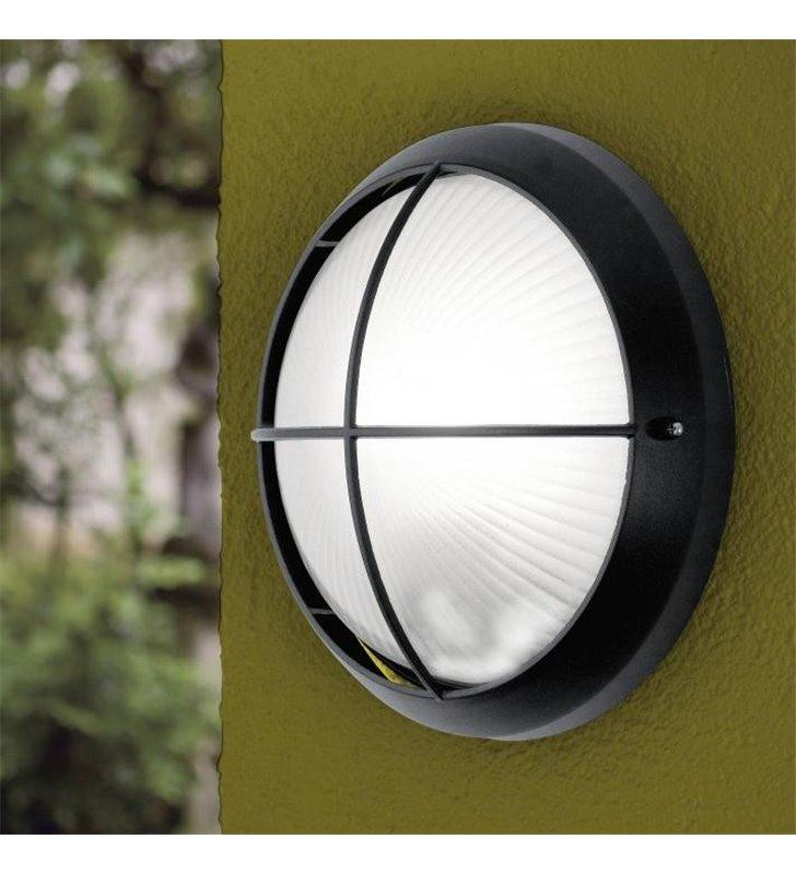 Lampa ogrodowa Siones LED czarna okrągła ścienno sufitowa
