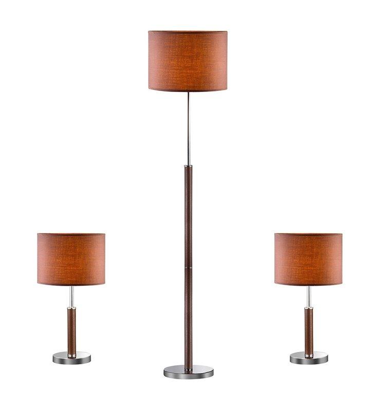 Lampa podłogowa i lampki Barnett - KOMPLET