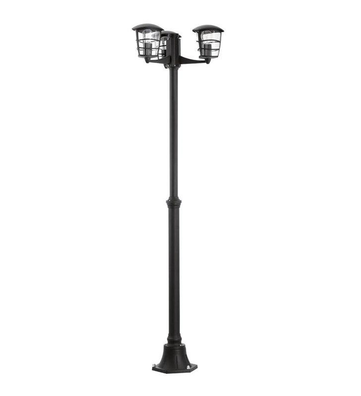 Lampa ogrodowa Aloria latarnia z 3 kloszami prawie 2m