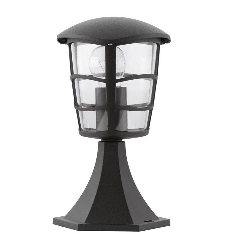 Lampa ogrodowa Aloria niski słupek zewnętrzny czarny 30cm