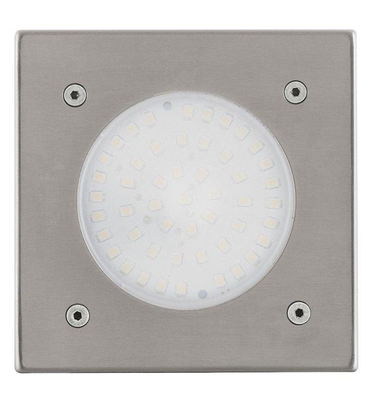 Kwadratowa lampa zewnętrzna Lamedo do wbudowania do gruntu LED