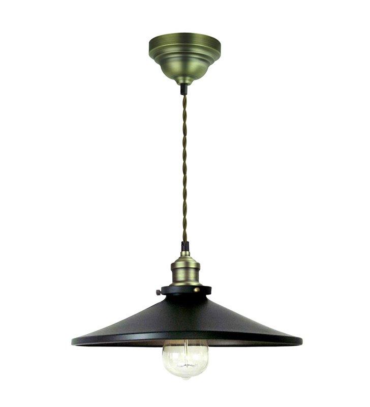 Lampa wisząca Renza czarno złota metalowa styl industrialny