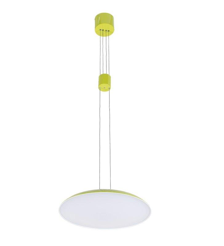 Lampa wisząca Visco LED zielona nowoczesna płynna regulacja długości