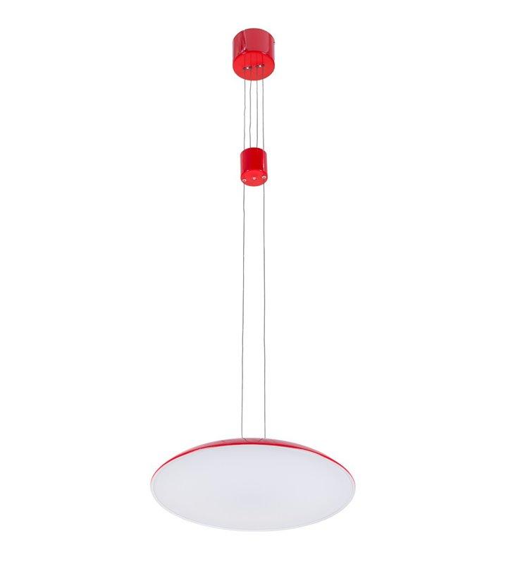 Czerwona lampa wisząca Visco LED z płynną regulacją wysokości