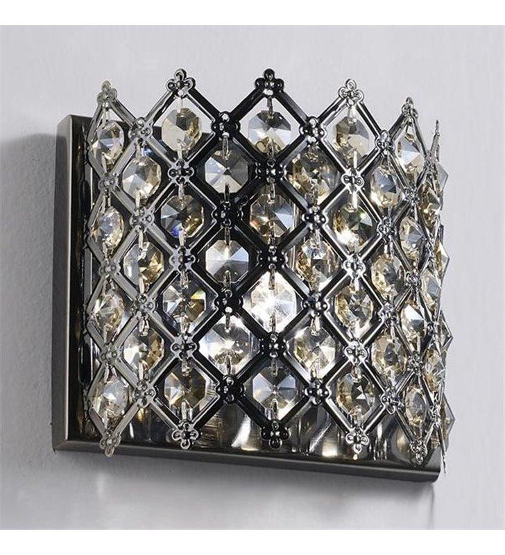 Kinkiet Avila mały z kryształkami antyczny mosiądz do wnętrz w stylu klasycznym i nowoczesnym