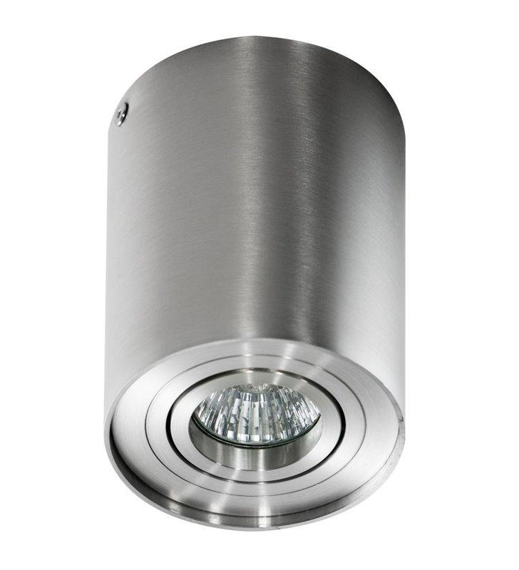 Lampa sufitowa typu downlight Bross pojedyncza walec kolor aluminium