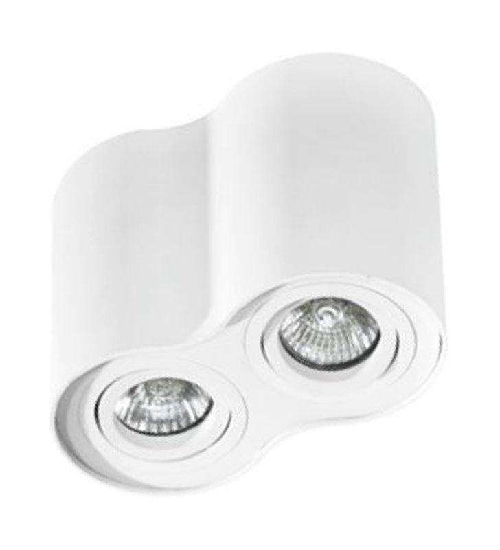 Lampa sufitowa Bross podwójna downlight biała