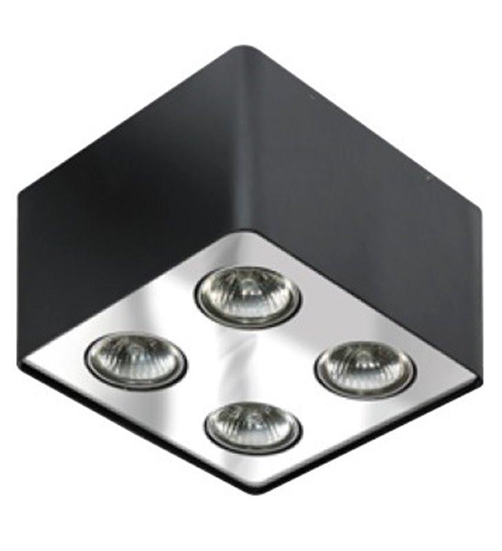 Lampa sufitowa Nino z 4 punktami świetlnymi czarna z chromowanym wykończeniem