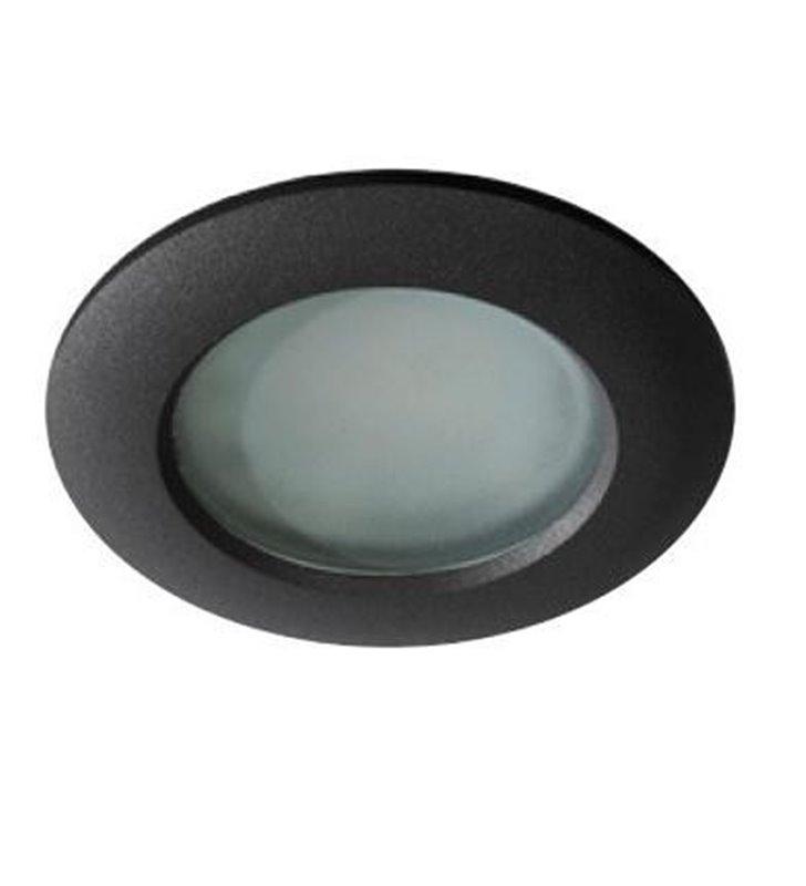 Oprawa punktowa Emilio IP54 czarna okrągła łazienkowa