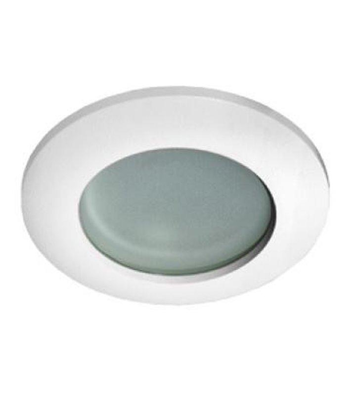 Biała okrągła nieruchoma oprawa punktowa łazienkowa Emilio IP54