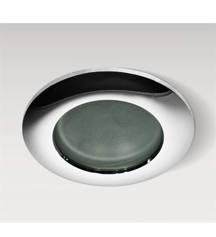 Chromowana okrągła oprawa punktowa do łazienki Emilio IP54