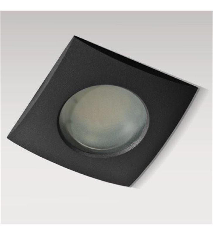 Czarna kwadratowa oprawa punktowa do łazienki Ezio IP54