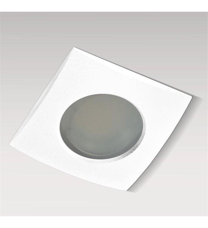 Oprawa punktowa kwadratowa biała łazienkowa Ezio IP54