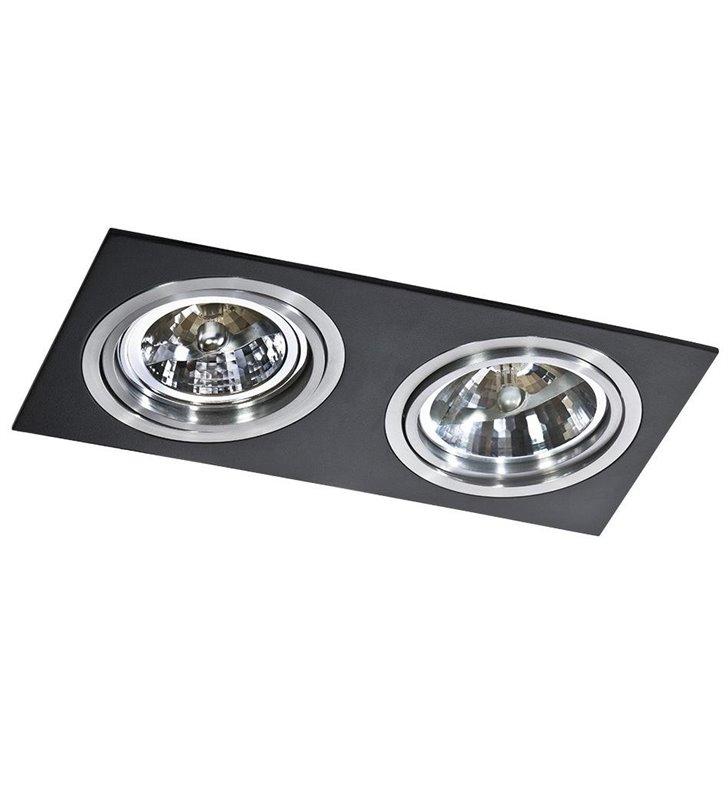 Oprawa punktowa Siro 2 punktowa czarno aluminiowa