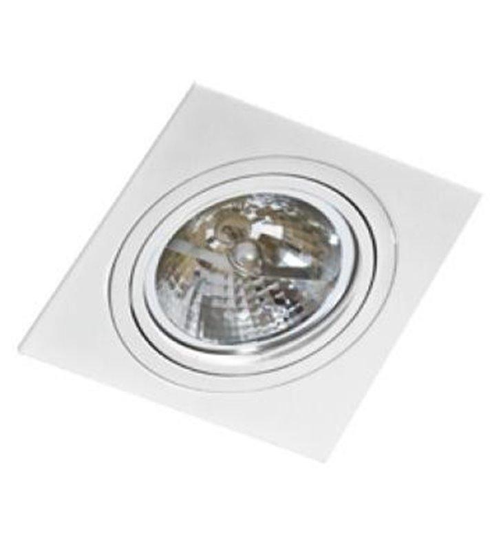 Oprawa punktowa Siro biała kwadratowa