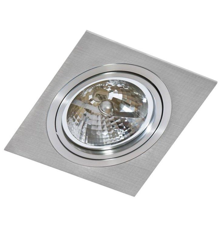 Oprawa punktowa Siro kwadratowa w kolorze aluminium