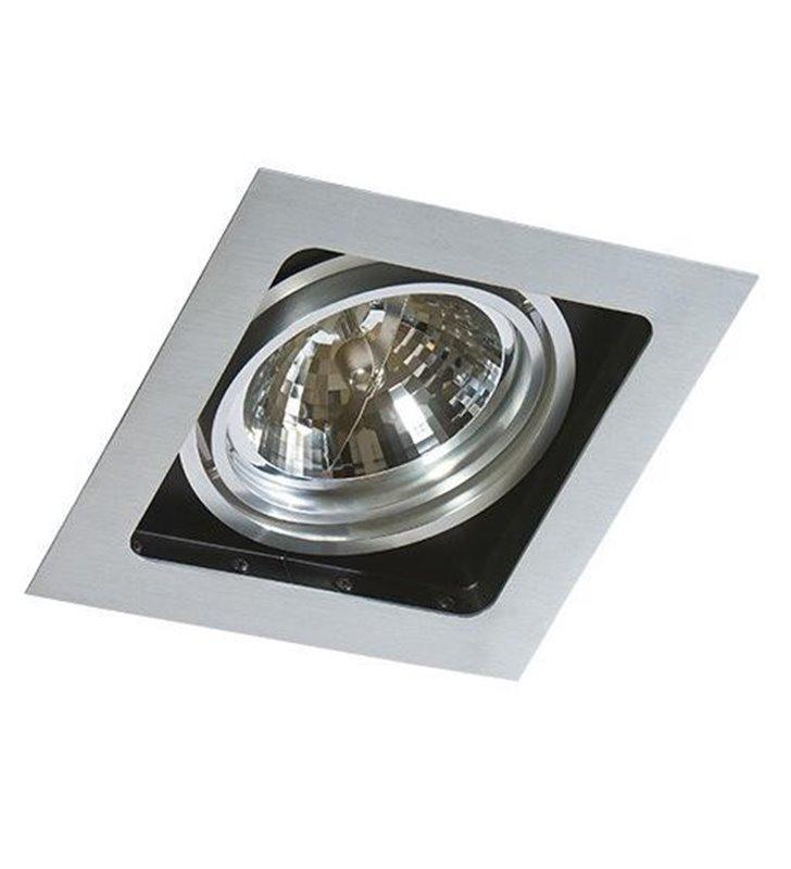 Duża kwadratowa oprawa punktowa ruchoma Sisto kolor aluminium - DOSTĘPNA OD RĘKI