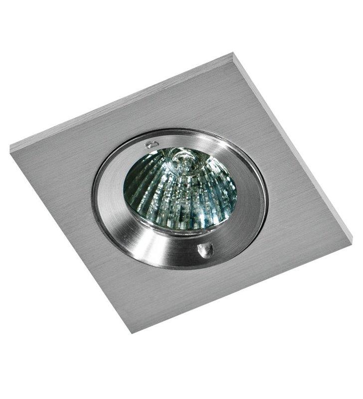 Oprawa punktowa kwadratowa do łazienki Pablo IP54 kolor aluminium
