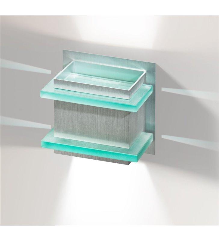 Kinkiet Blas w kolorze aluminium nowoczesny styl techniczny