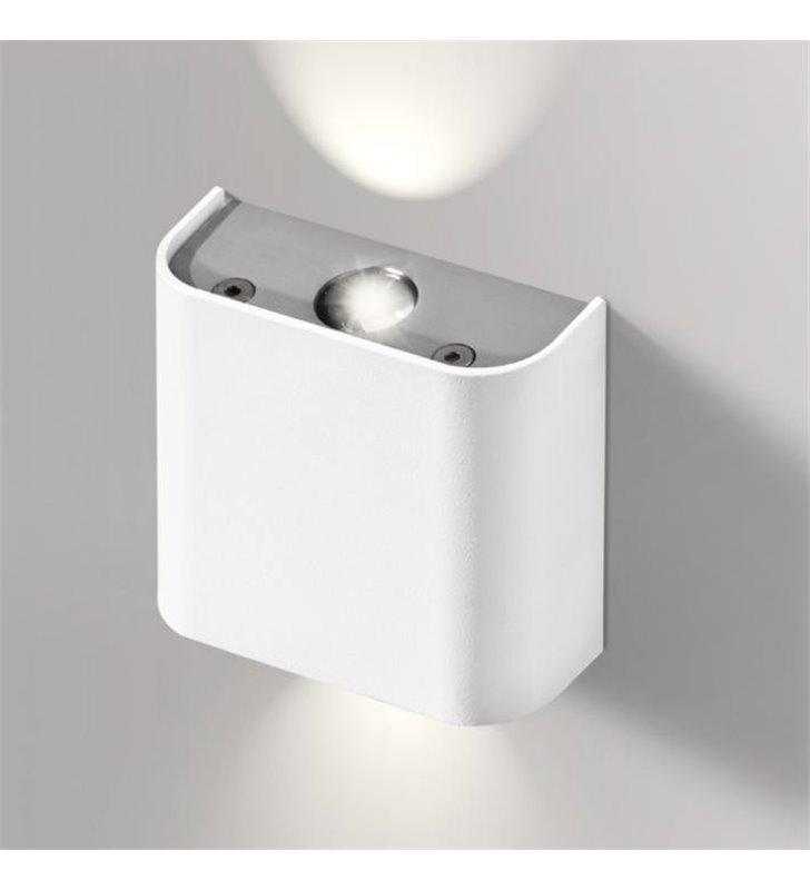 Kinkiet Ginno LED mały biały nowoczesny z dwustronnym strumieniem światła - OD RĘKI