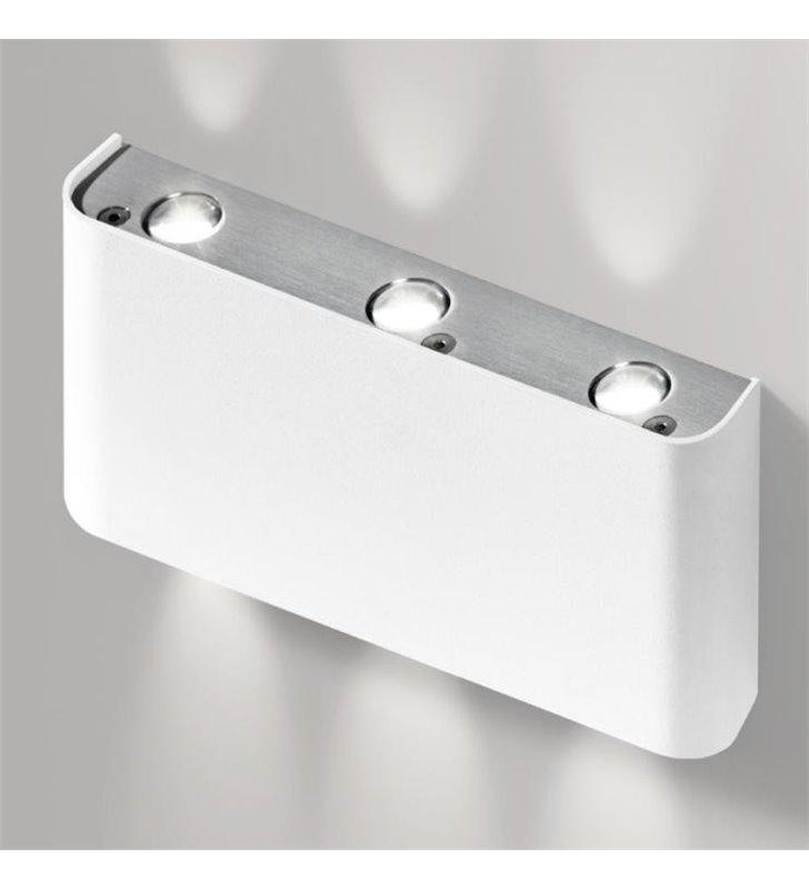 Kinkiet Ginno LED biały do salonu sypialni na korytarz styl nowoczesny minimalistyczny
