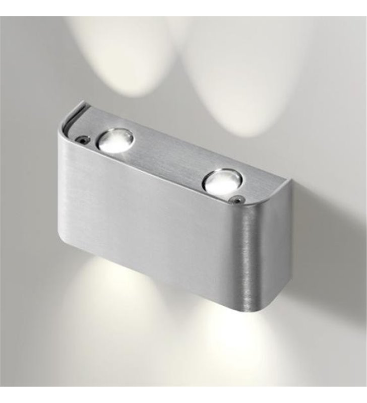 Kinkiet Ginno nowoczesny mały kolor aluminium LED - DOSTĘPNY OD RĘKI