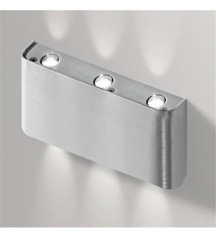 Kinkiet Ginno mały z obustronnym strumieniem światła nowoczesny kolor aluminium - DOSTĘPNY OD RĘKI
