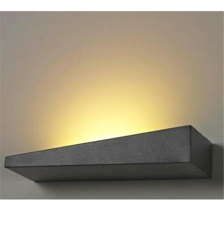 Vialetto LED czarny nowoczesny kinkiet