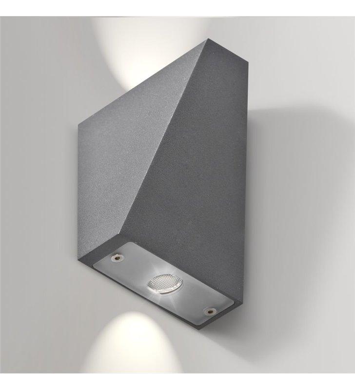 Lampa ścienna ogrodowa Zita szara dustronny strumień światła 2 możliwości montażu