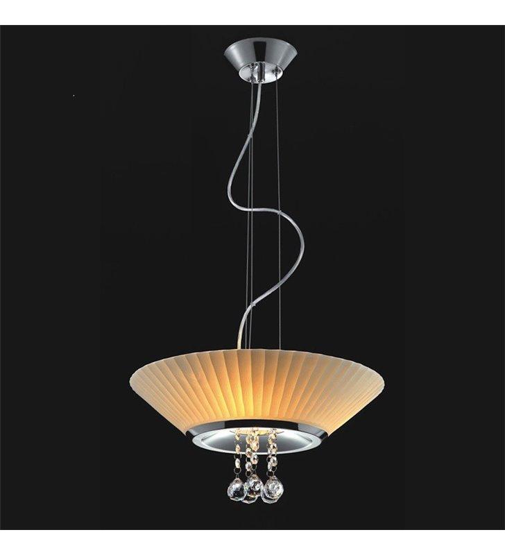 Lampa wisząca Coffee szklany biały klosz z kryształkami - DOSTĘPNA OD RĘKI