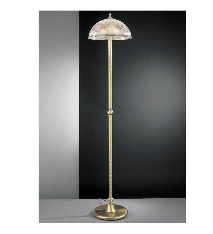 Lampa podłogowa Benevento mosiądz