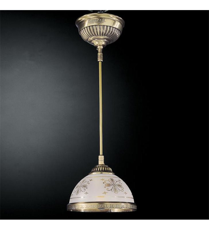 Lampa wisząca Benevento mosiądz klasyczna ekskluzywna