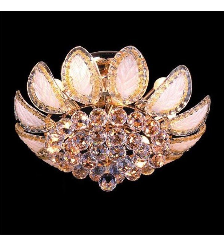 Plafon Croma 500 złoty bogato zdobiony kryształowy