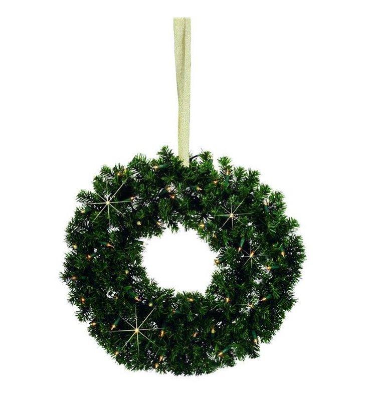 Wieniec świąteczny z lampkami na baterie LED Granis 40- DOSTĘPNY OD RĘKI