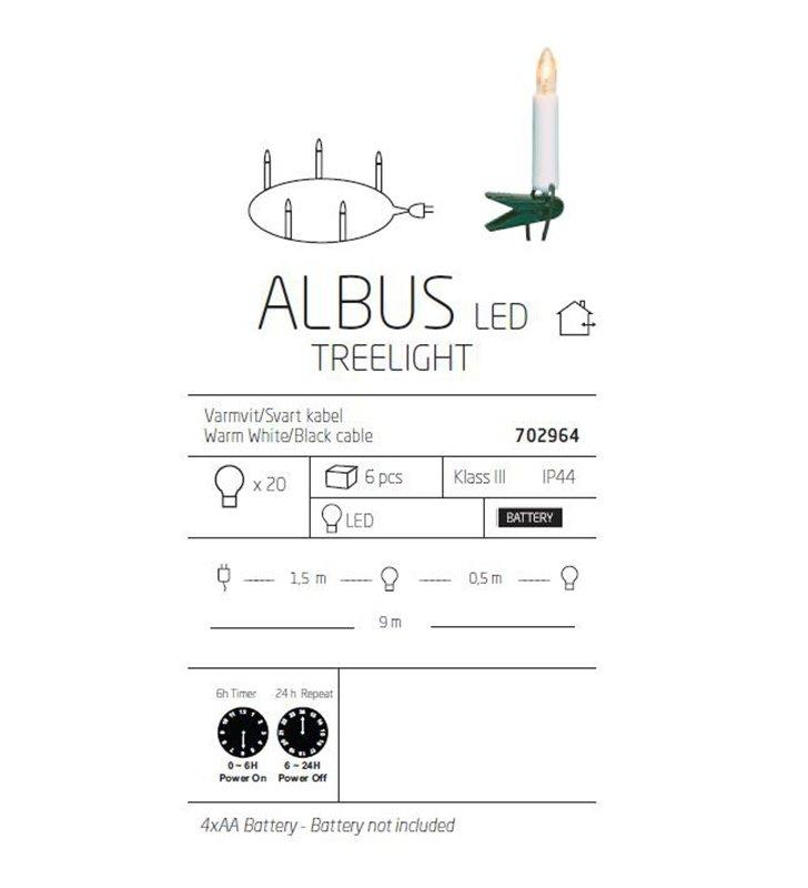 Lampki Albus pętla - na baterie