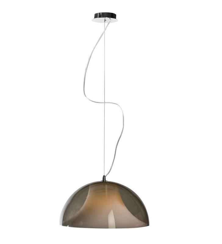 Lampa wisząca Fantasia Black podwójny klosz z tworzywa zewnętrzny czarny do kuchni jadalni salonu sypialni