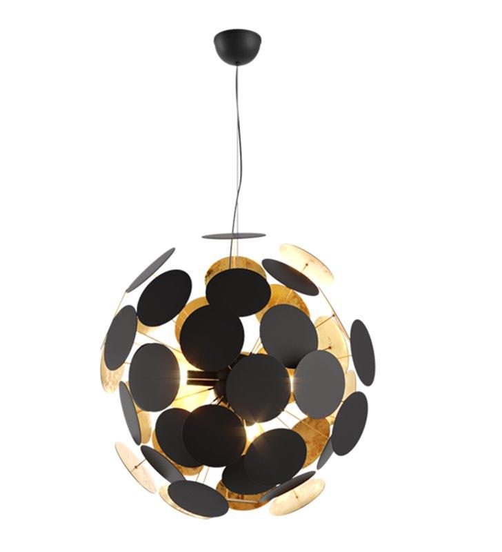 Lampa wisząca Dots metalowa czarno złota designerska nowoczesna