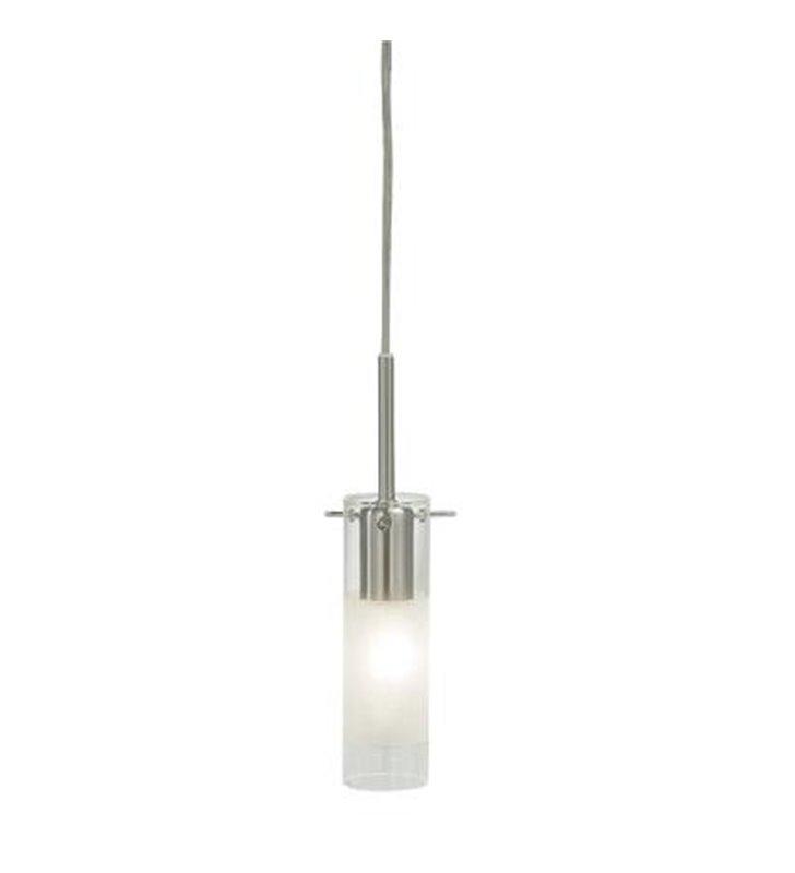Lampa wisząca Toscana pojedyncza klosz szklany częściowo satynowany - OD RĘKI