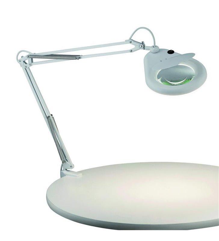 Lampa biurkowa Fagernes ze szkłem powiększającym