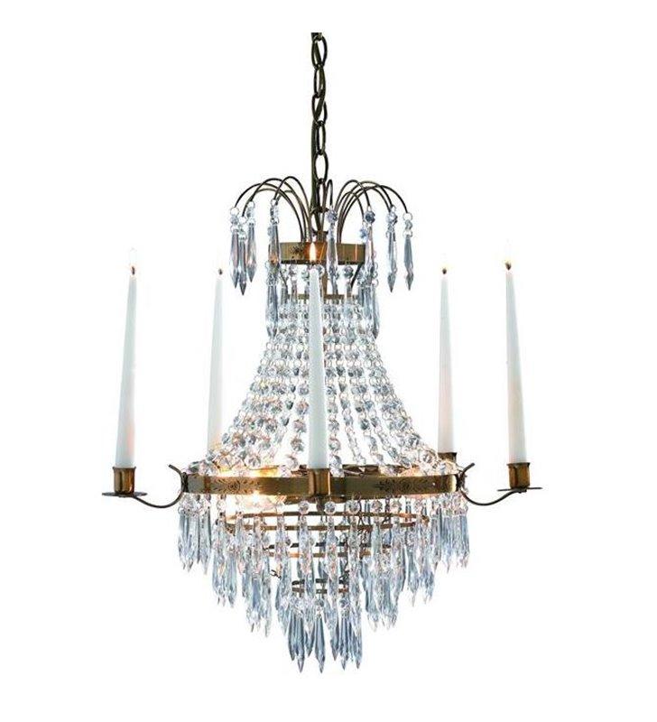 Krageholm żyrandol kryształowy ze świecami