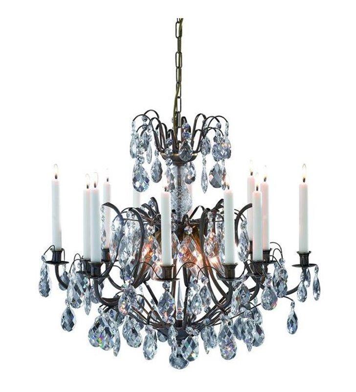 Kryształowy żyrandol ze świecami Kronovall