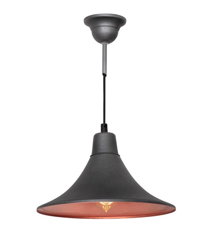 Lampa wisząca Nani Grafit nowoczesna metalowa grafitowa styl loftowy - DOSTĘPNA OD RĘKI