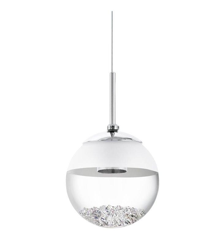 Lampa wisząca Montefio1 mała szklana kula z kryształkami wewnątrz