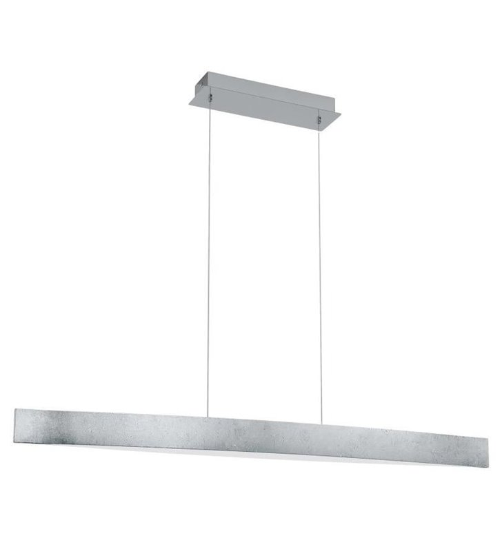 Lampa wisząca Fornes srebrna podłużna nad stół do jadalni kuchni salonu