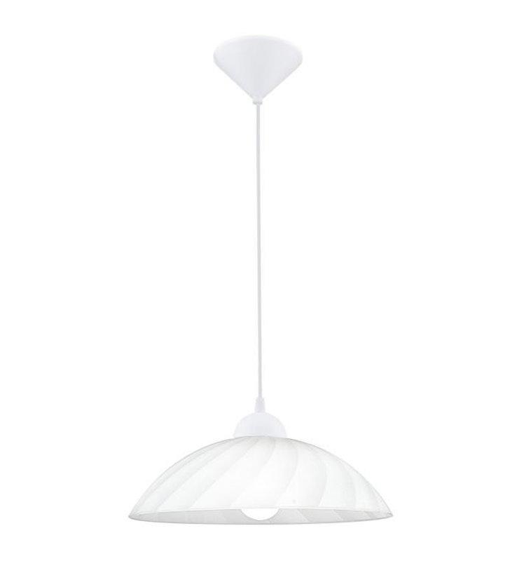 Kuchenna prosta lampa wisząca ze szklanym białym kloszem Vetro