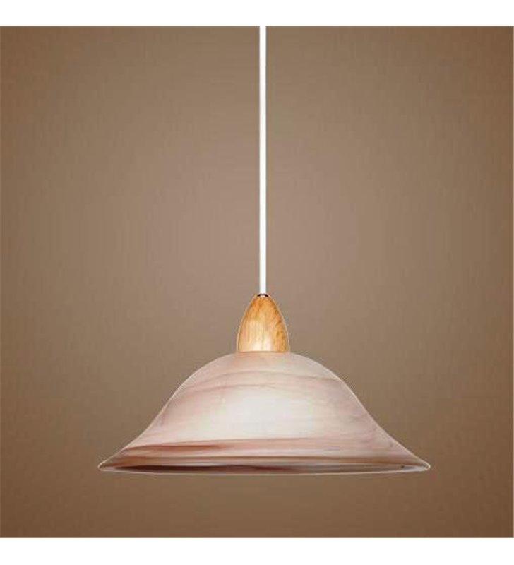 Brązowa lampa wisząca do kuchni Alla