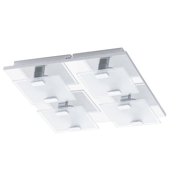 Nowoczesny kwadratowy plafon LEDowy Vicaro 27cm