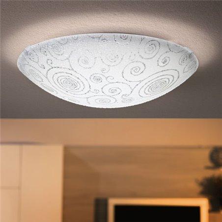 Dekoracyjny plafon Riconto LED barwa ciepła wymienny moduł LED